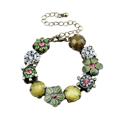 Dream Flowers Antiquity Burnish Pendant Bracelet image1