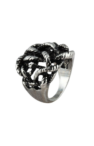 Fire Scorch Mesh Metal Simple Ring image1
