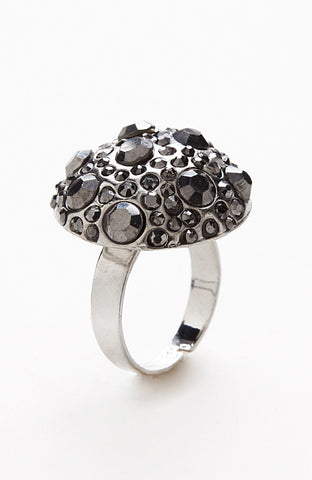 Mushroom Setting Wonderland Silver Gemstone Ring image1