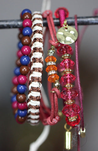 Four in One Jeweled Heart Friendship Bracelet image1
