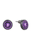 Punch Purple Centerpiece Rhinestone Stud Earrings image2