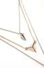 Two Tone Icon Metal Geometry Triple Necklace image4