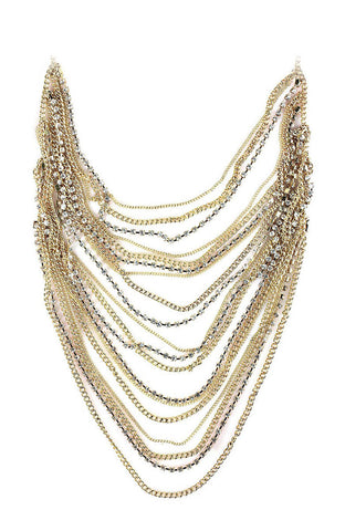 Infinity Strand Luster Bib Necklace image1