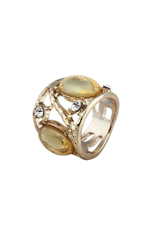 Magnify Me Jewel Gold Luster Statement Ring image1