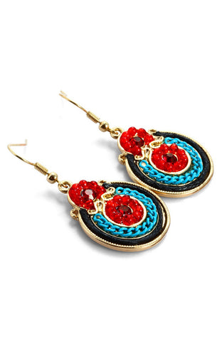 Peru Primary Color Mystical Dangle Earrings image1