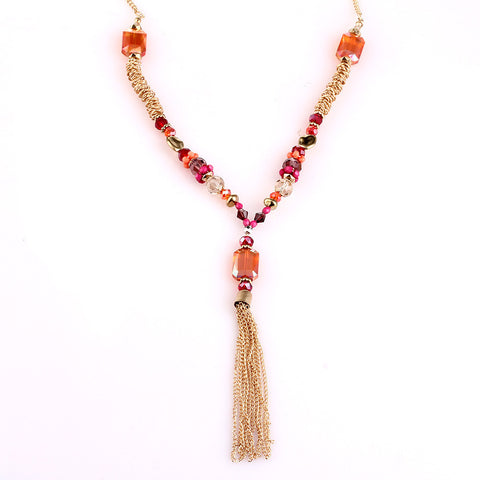 Candy Bauble Dangle Tassel Statement Necklace image1