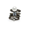 Pearl Facet Jewel Simple Ring Set image2