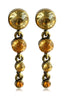 Column Pastel Gemstone Hanging Chandelier Earrings image2