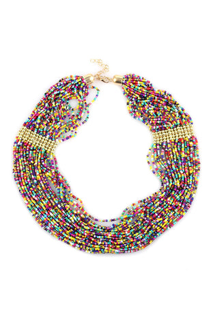 Hawaiian Sprinkle Strand Plastron Statement Necklace image1