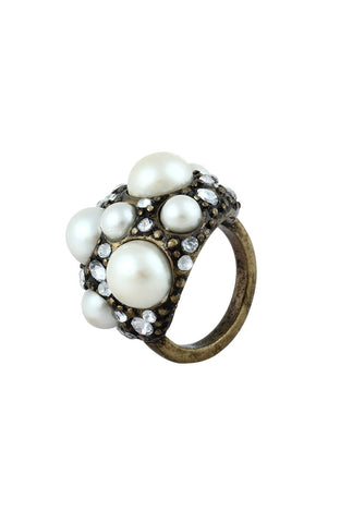 Ocean Treasure Gem Encrusted Statement Ring image1