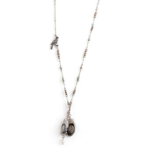 Fossil Fancy Relic Rhinestone Simple Necklace image1