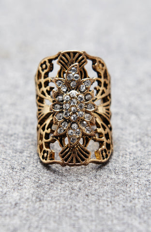 Jeweled Flower Magical Forest Ring image1