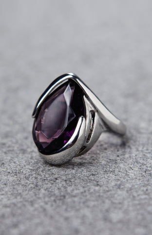 Purple Faceted Jewel Shimmer Ring image1