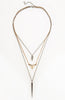 Two Tone Icon Metal Geometry Triple Necklace image3