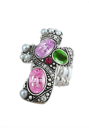 Gumdrop Crucifix Cool Classic Statement Ring image1
