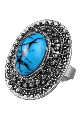 Robin Egg Blue Amulet Statement Ring image1