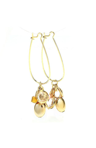 Baby Mobile White Gemstone Drop Earrings image1
