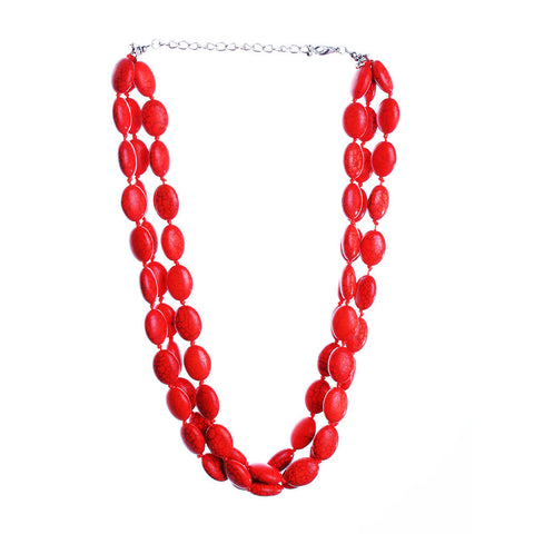 Chunky Loving Heart Beads Choker Necklace