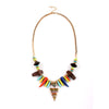 Chunky Tribal Warrior Pendant Statement Necklace image1