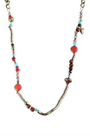 Mediterranean Charms Long Statement Necklace image1