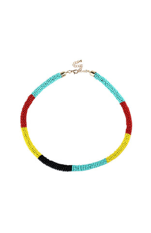 Microbead Twist Ethnic Choker Statement Necklace image1