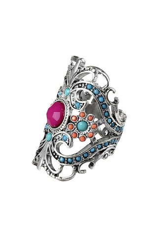 Venice Carnival Orchid Rhinestone Statement Ring image1