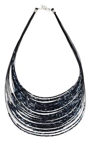Galactic Traveler Multistrand Statement Necklace image1