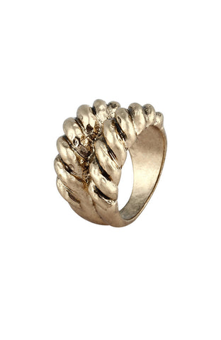 Ethnic Braided Rope Motif Simple Ring image1