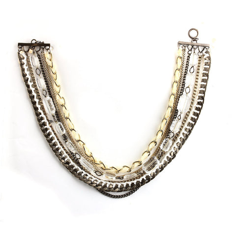 Eclectic Elegance Chunky Rhinestone Statement Necklace image1