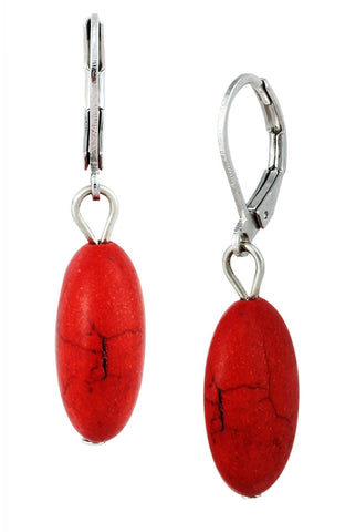 Scarlet Scarred Heart Bead Dangle Statement Earrings image11