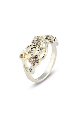 Tiara Vined Rhinestone Simple Ring image1