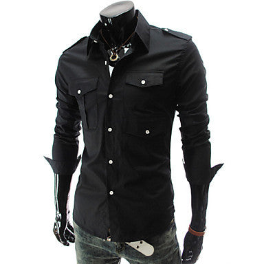 Men's Single Breasted Fashion Shirt