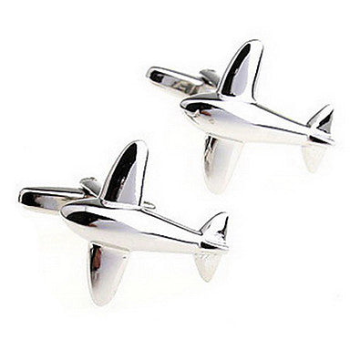 Men's Silver Alloy Toy Cufflinks