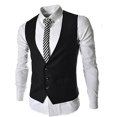Men's Fashion Three Button Vest