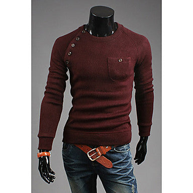 Men's Multi Button Long Sleeve Cardigan