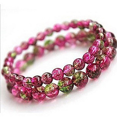 Health Caring Vintage Pink Naturel Crystal Hologram Bracelet(1 Pc)