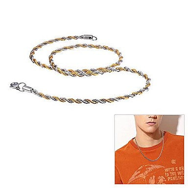 Fashionable Titanium Steel Twist Chain Men¡®s Necklace (3.5MM 20inch)
