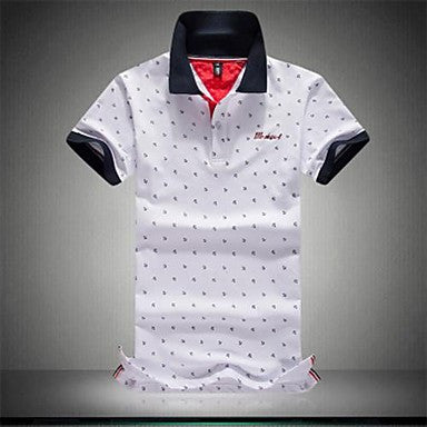 Men's Square Casual Short Sleeve Polos