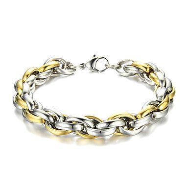 Fashion Titanium Steel Hook-ups Link Bracelet