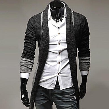 Men's Contrasting Colors Casual Cardigan