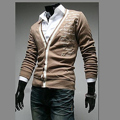 Men's Fashion New Slim Leisure Sweater