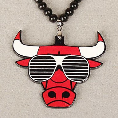 Bull Pattern Acrylic Necklace