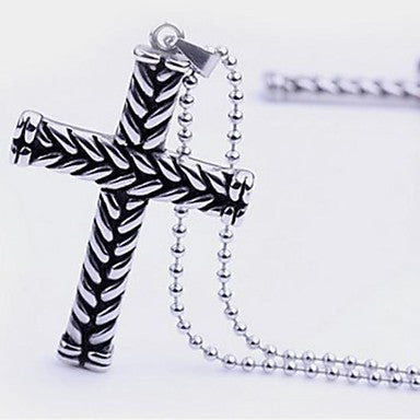 Men¡¯s Fashion Personality Cross Black Knight Pendant Necklaces