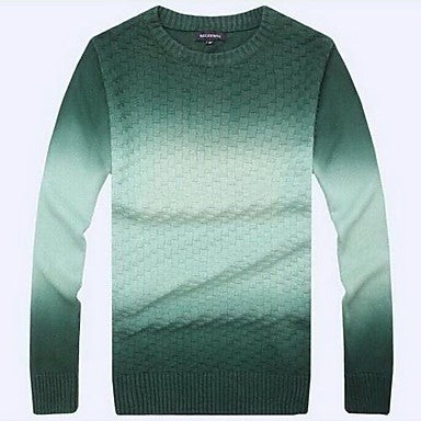 Men's Slim Contrast Color Trendy Long Sleeve With Knit Sweater