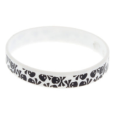 (1 Pc)Fashion Unisex White Silicon ID Bracelet