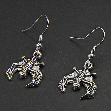 Punk Bat Silver Alloy Earrings(1 Pair)