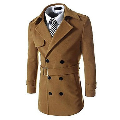 Men's Double-breasted Warm Coat