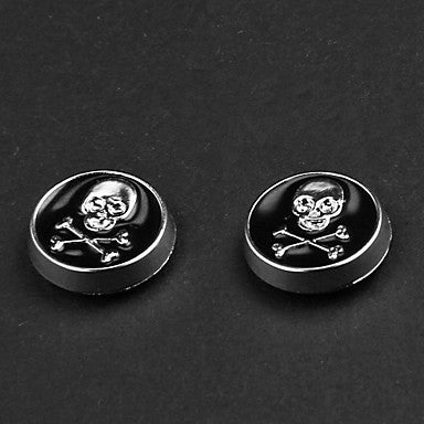 Punk Black Skull Magnetic Earrings(1 Pair)