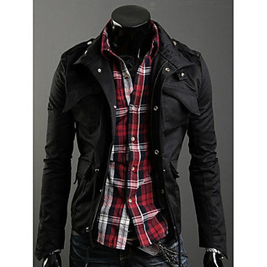 Men's Stand Collar Korea Style Slim Jacket