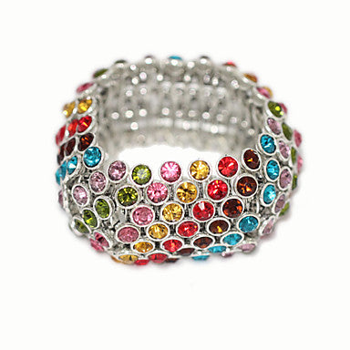 Colorful Zircon Inclined Type Bracelet